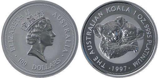 A 1997 issue Platinum Koala