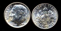 An image of a Roosevelt dime