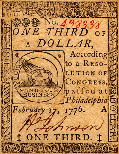 Paper Currency in the U S : A Brief History -