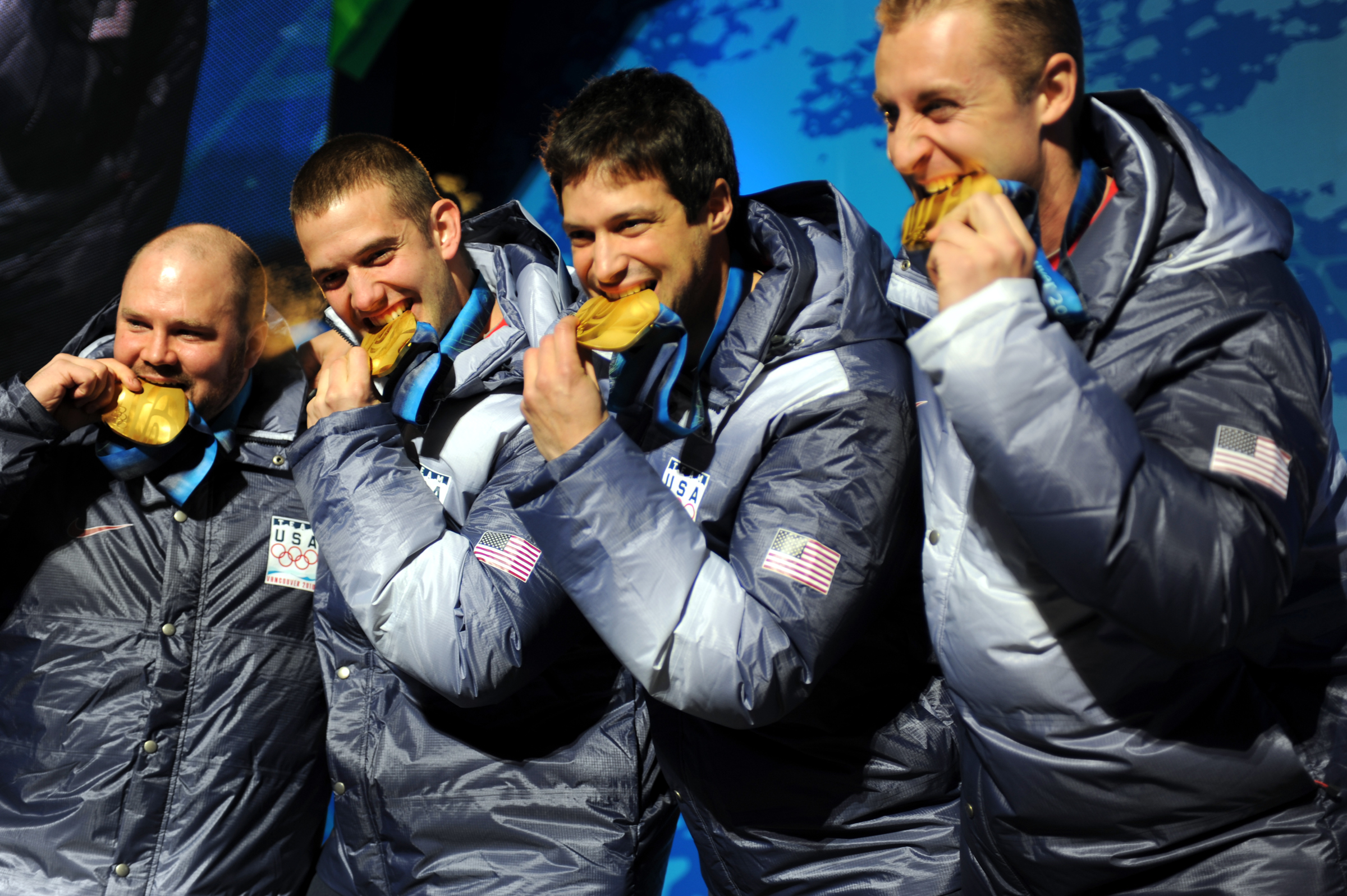 US Oplympic team with gold medals