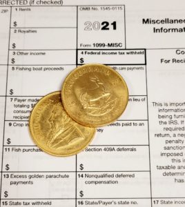 Reporting Gold and Silver to IRS form 1099B and Krugerrands